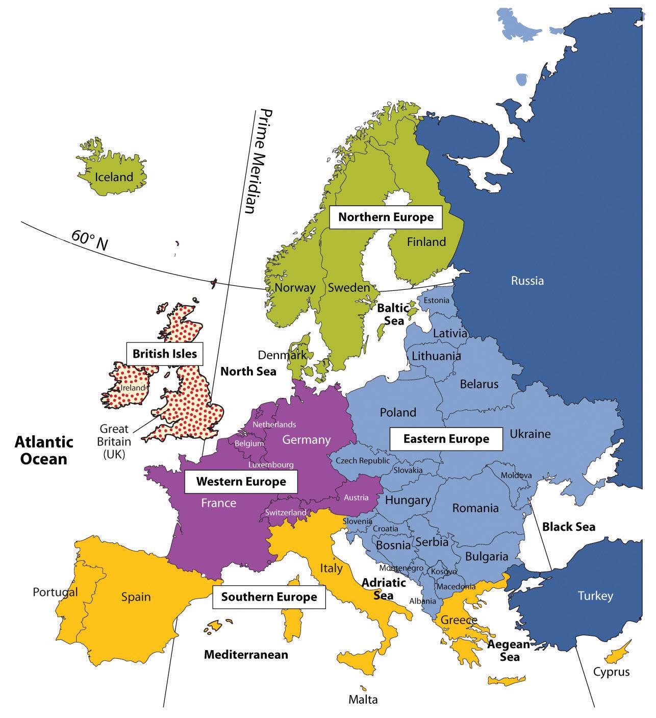 Regions of Western Europe