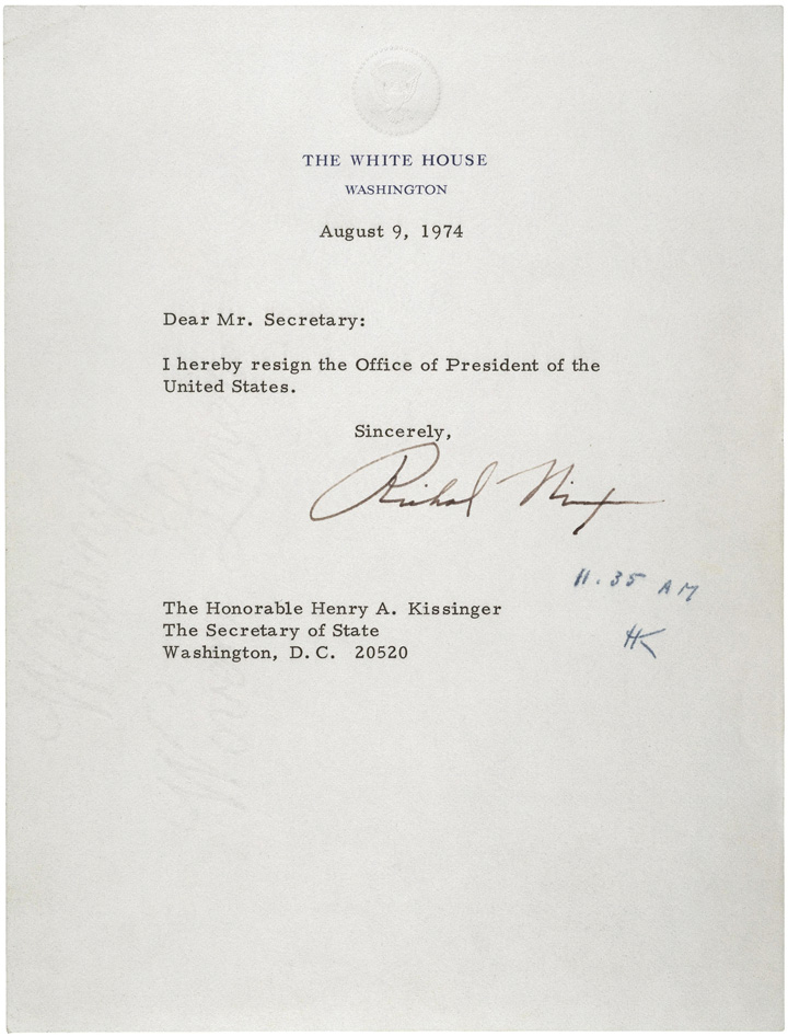 The 1970s nixons letter of resignation included no statement of guilt or innocence regarding his affiliation with the watergate break in nixon was pardoned by thecheapjerseys Choice Image