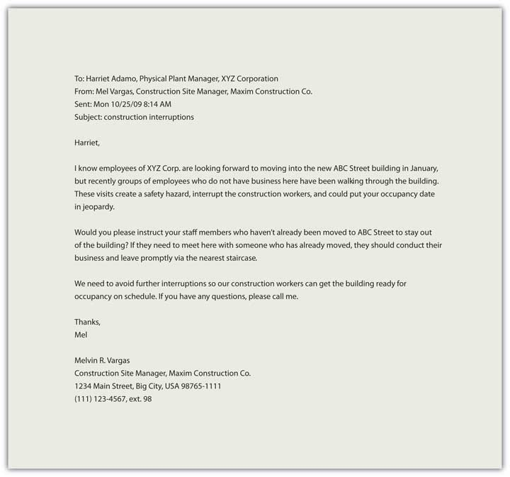 Business Writing in Action – Closing Business Letter Sample
