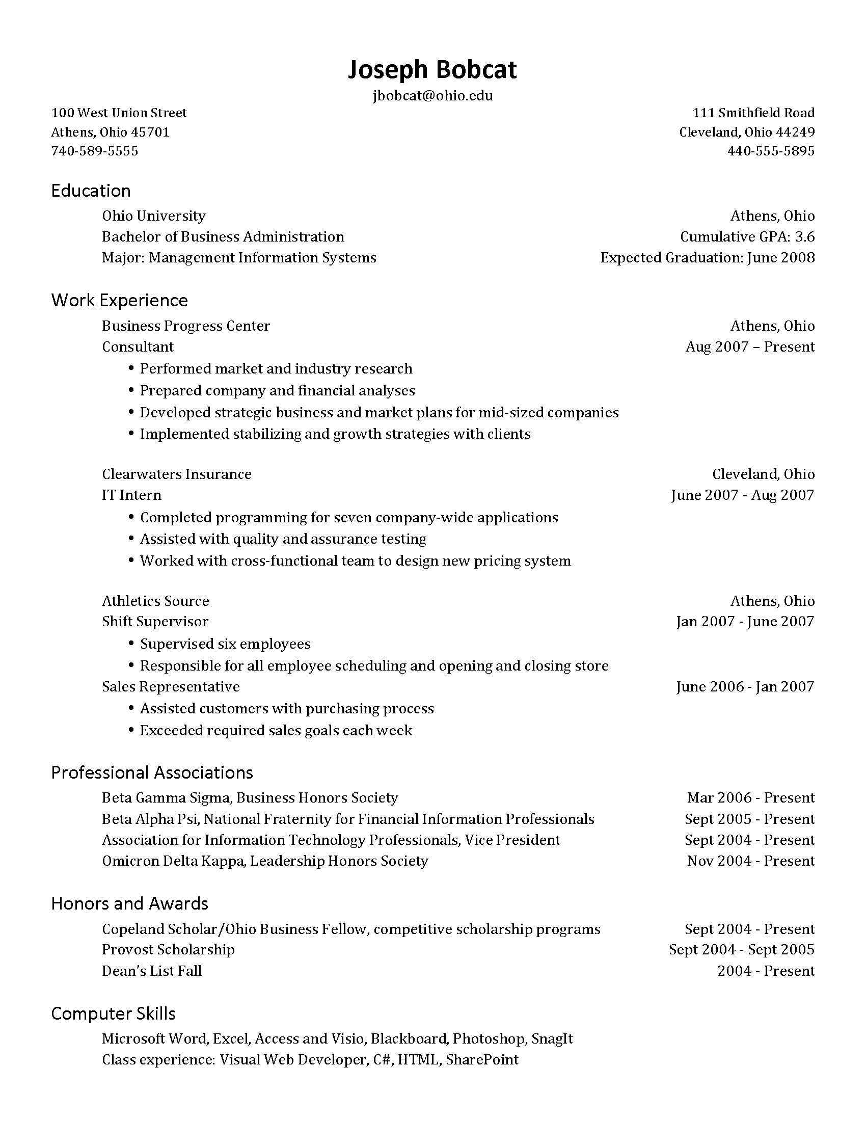 Should My Resume Be e Page