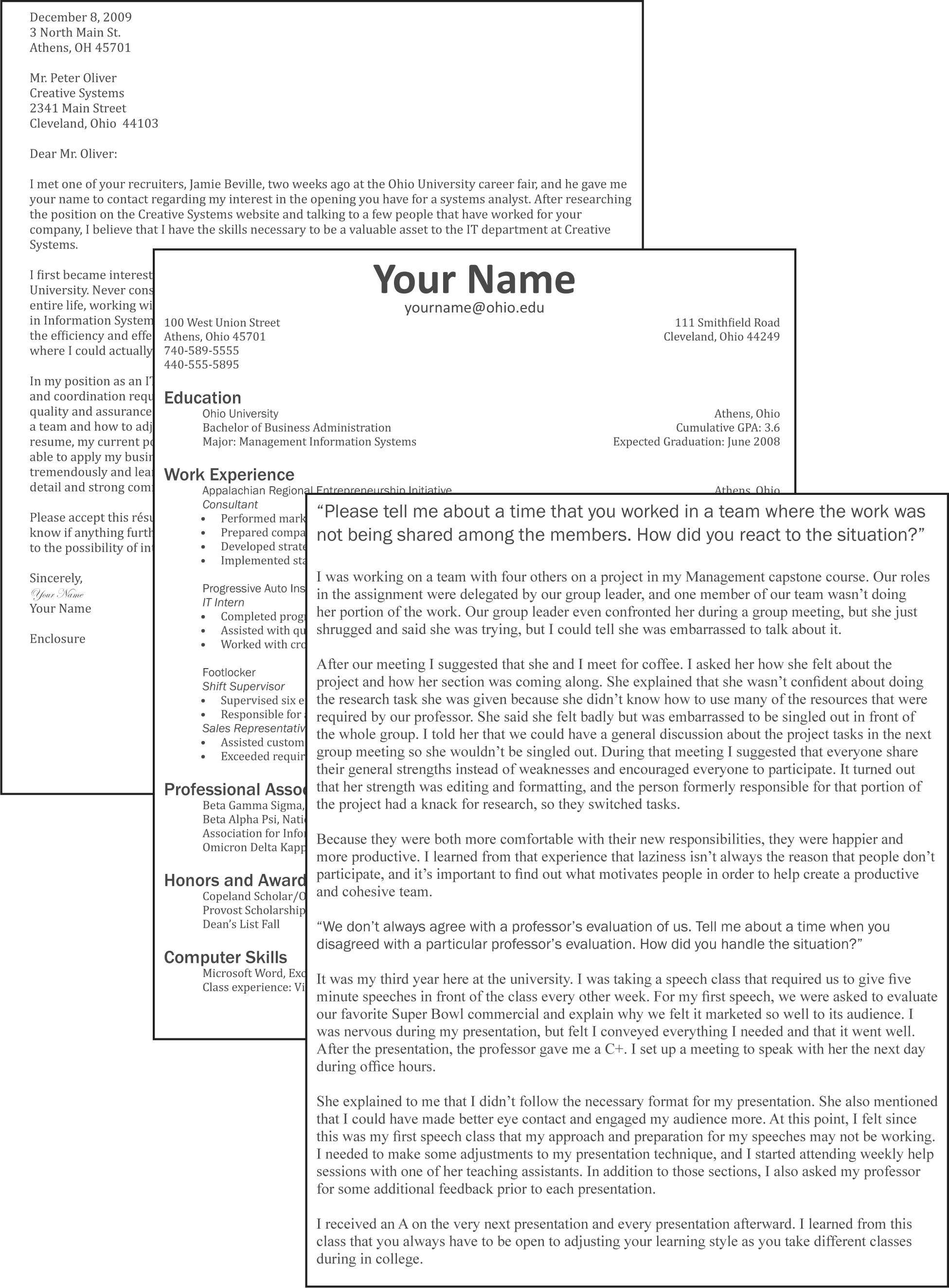 what does a cover letter for a resume look like