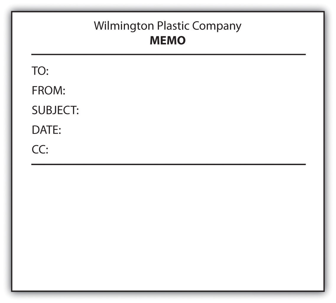 figure 121 example of a blank memo form