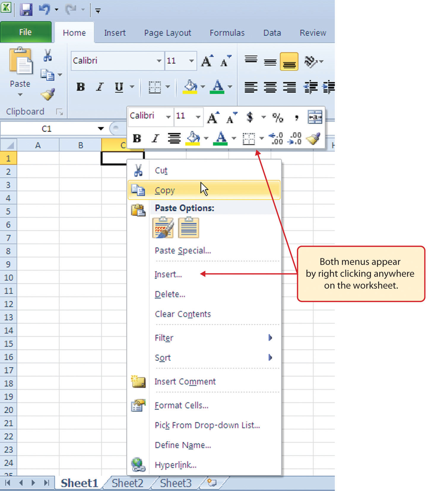 how to add click dots in excel