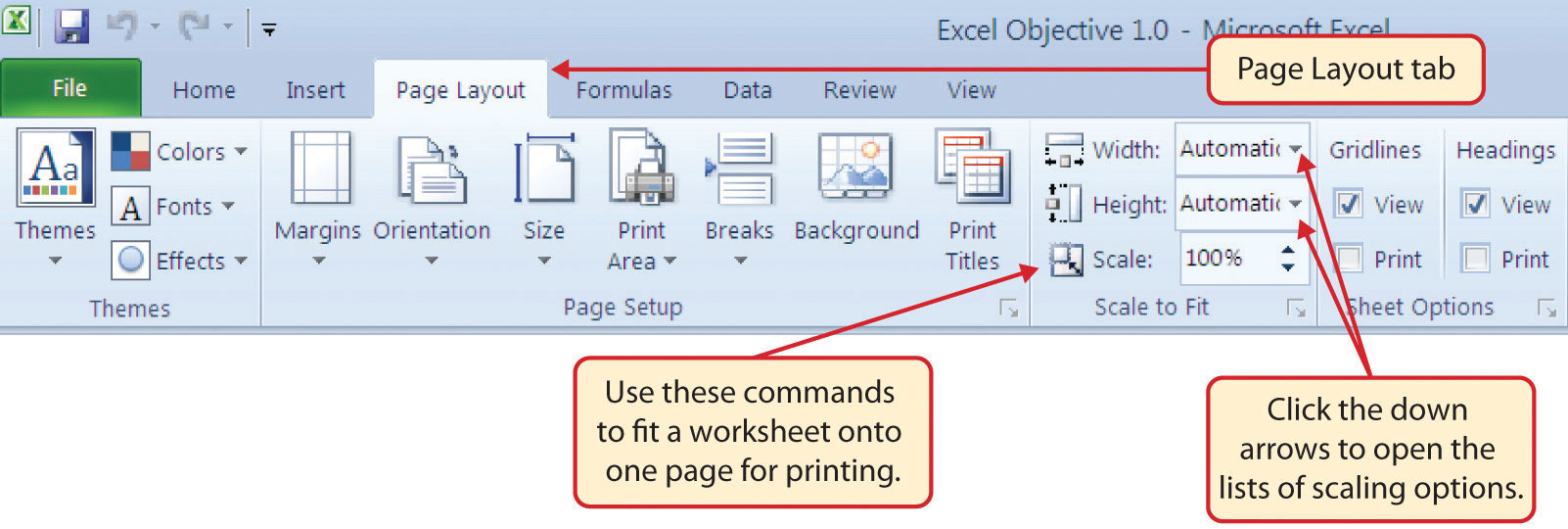 microsoft excel how to change the page margins