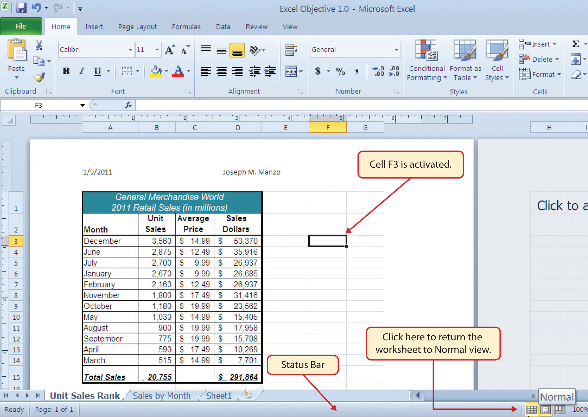 worksheet Excel Worksheet View fundamental skills
