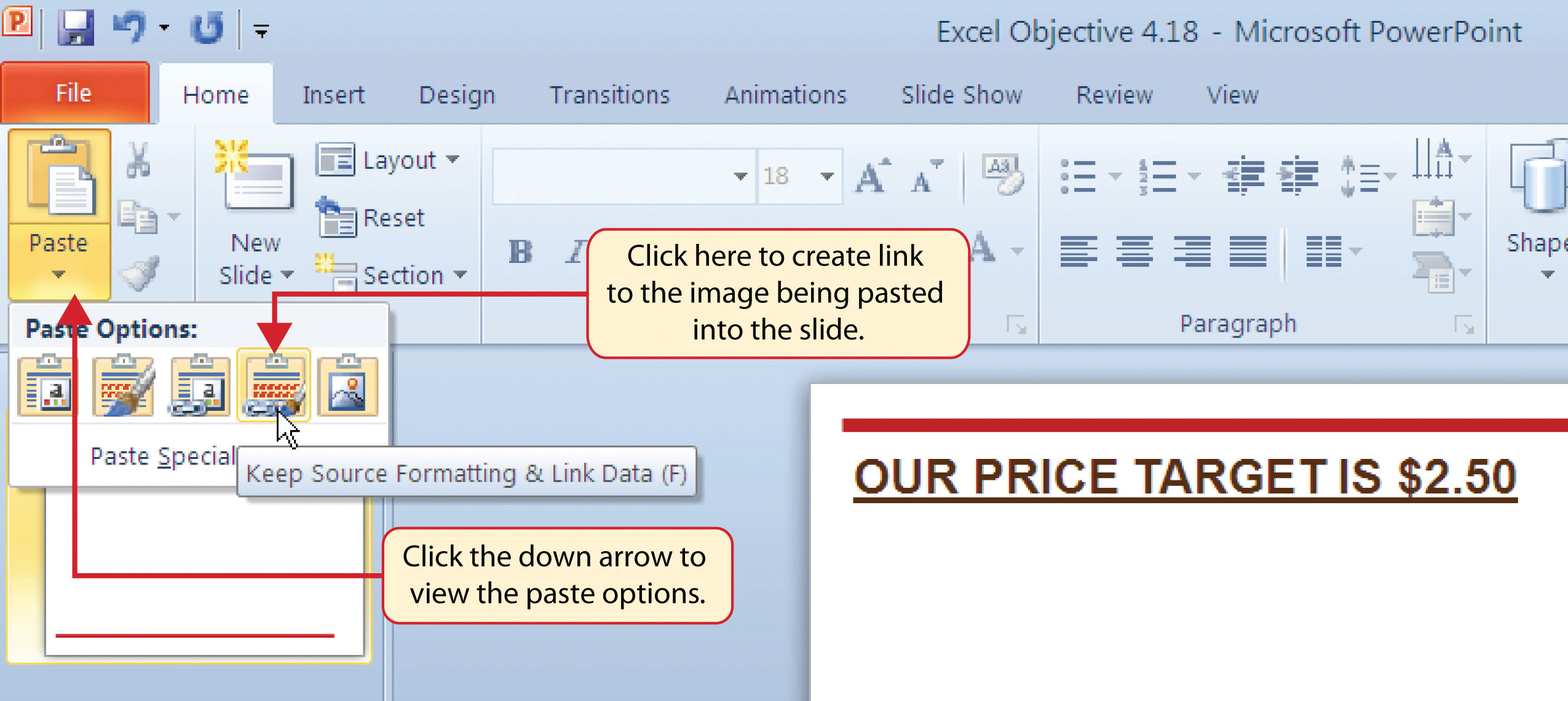 Using charts with microsoft word and microsoft powerpoint pasting a linked chart image into powerpoint ccuart Gallery