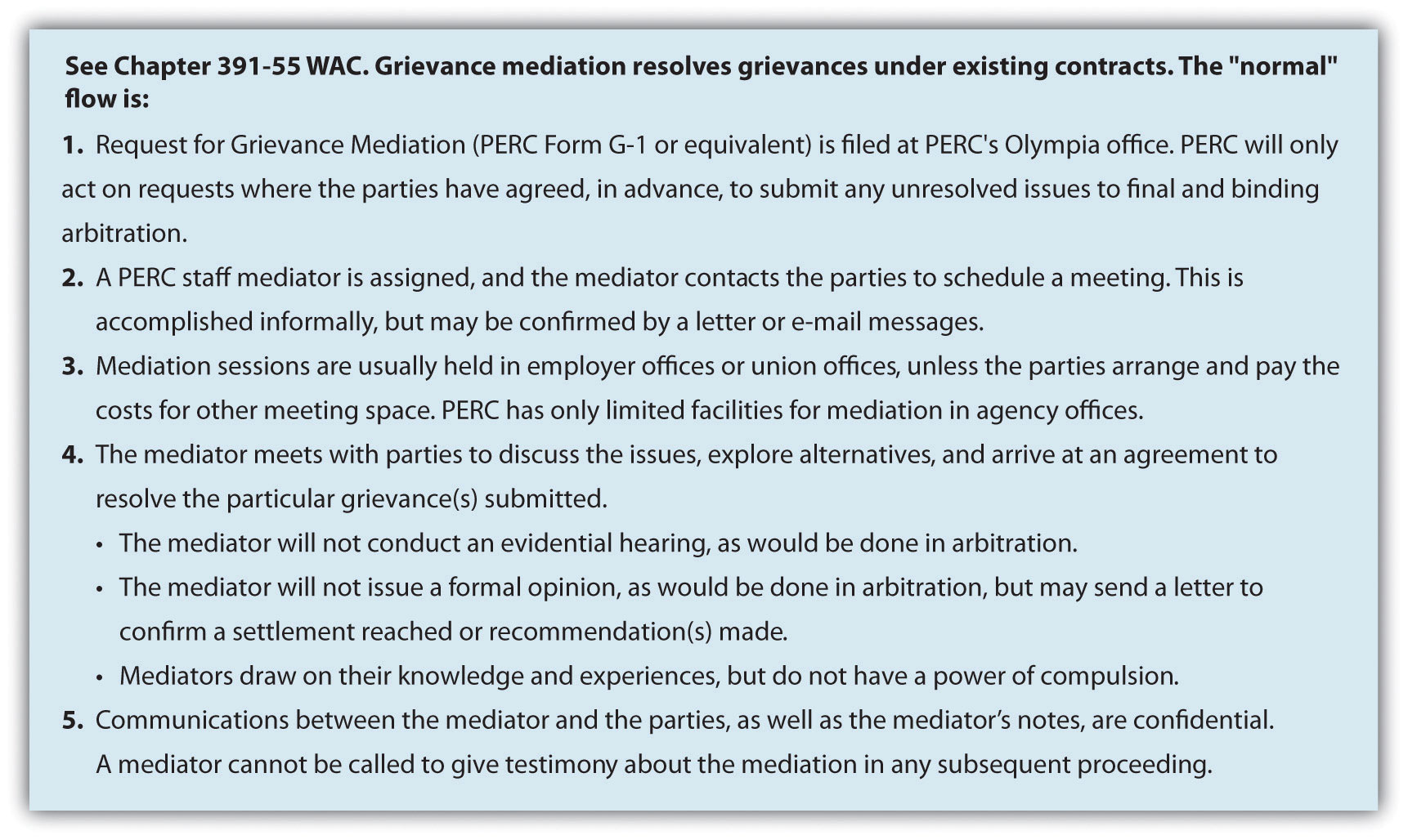 Grievance process figure 119 the mediation process for the public employment relations commission in washington state aljukfo Images