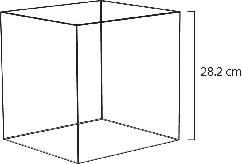 diagram of a cube