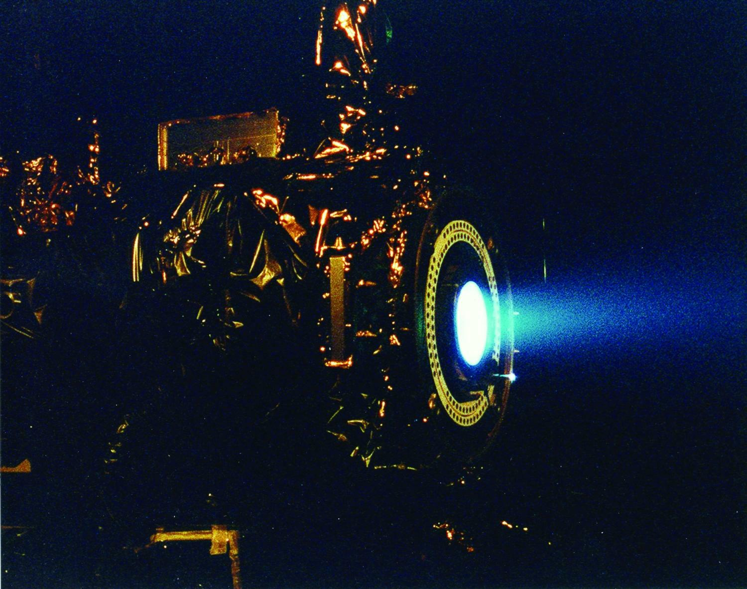Image of a xenon ion engine.