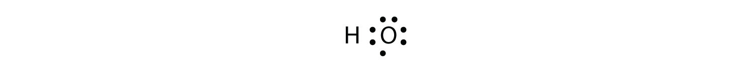 - This diagram shows an incomplet octet surrounding Oxygen atom.