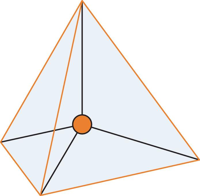 Diagram of a tetrahedron.