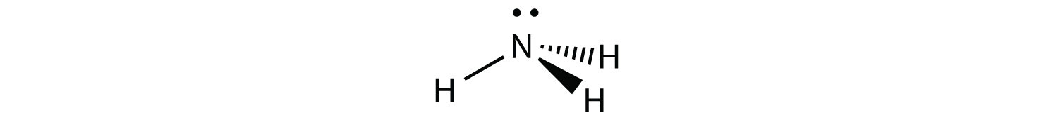 This molecule has four electron groups oriented as a tetrahedrom. Note that only three electron groups are bonded to atoms.