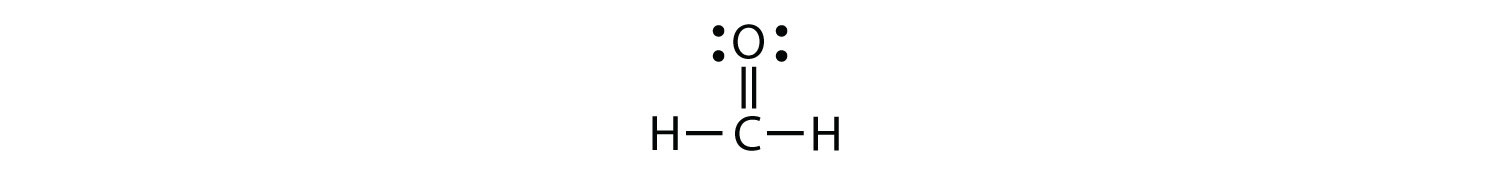 - This formula representation shows the double bond between C and O. This represents two bonding pairs of electrons