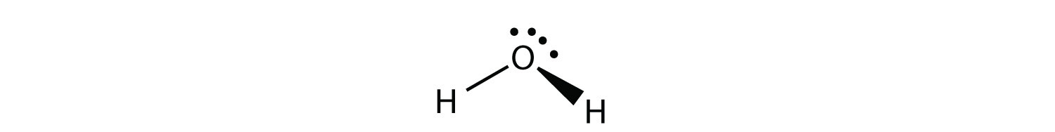 The water molecule has four electron groups but the molecule shape is bent or angular.