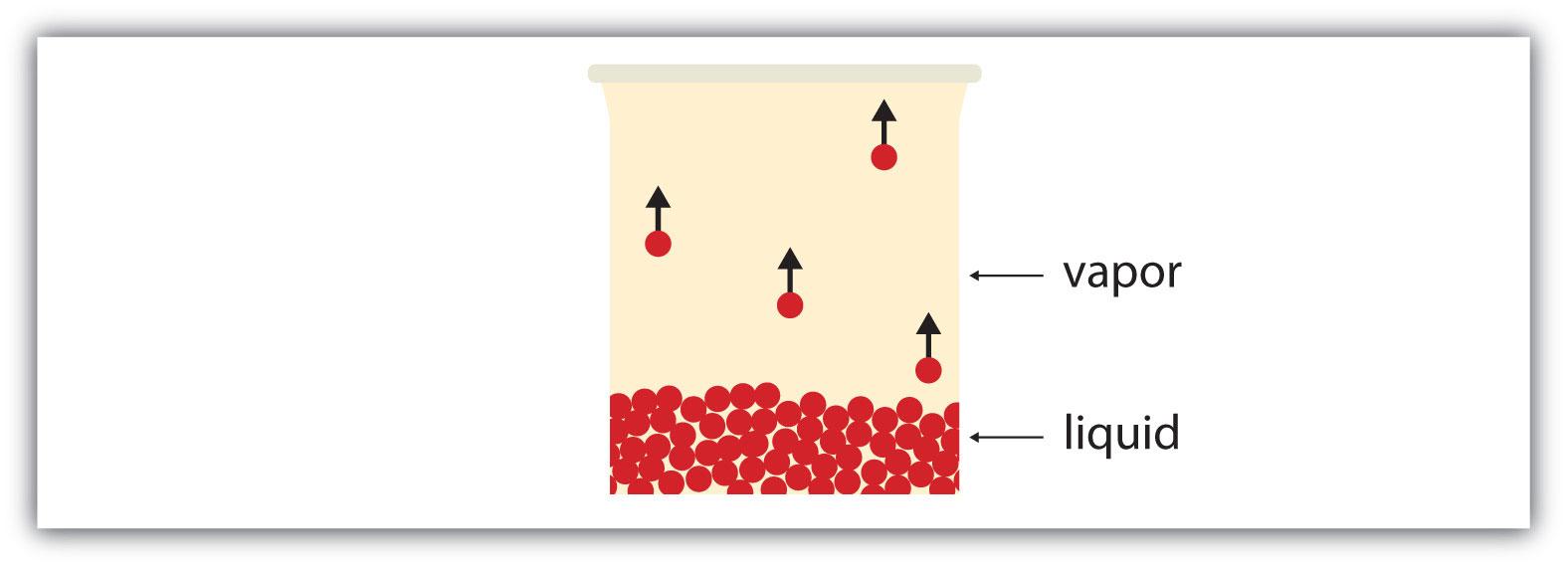 Diagram of the evaporation of a liquid