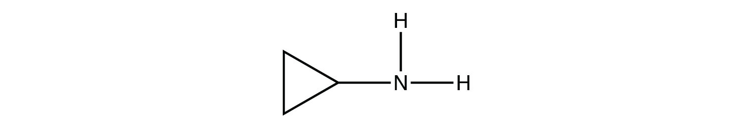 Structural formula of cyclopropil amine