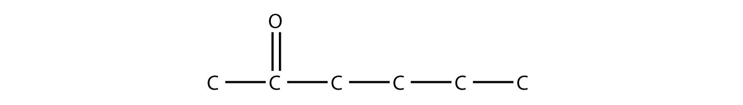 2-hexaanone, the position of the functional group is indicated in the compound name.