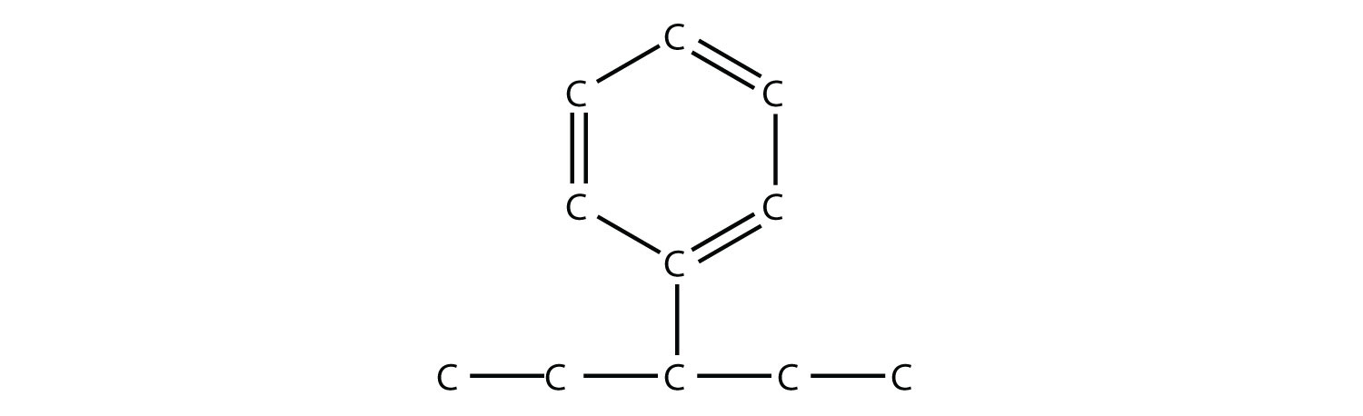 Structural formula of 3-phenil-pentane