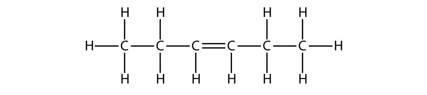 This image is the Structural Formula of hexene