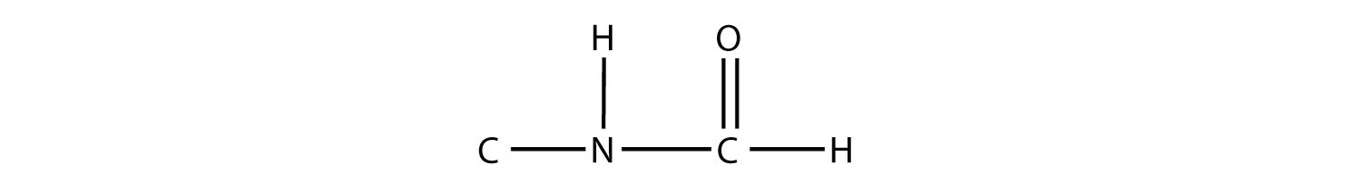 Formula of amide compound showing amide functional group