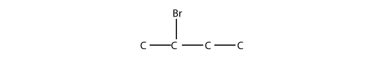 - Structural formula of 2-Bromo-butane