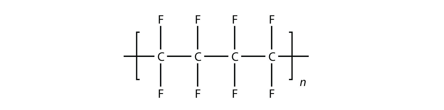 - The tetrofluoroethylene molecule can undergo polymerization