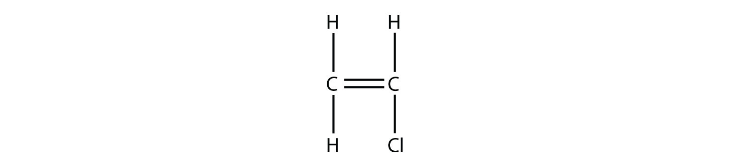 -	Structural formula of Choro-ethene