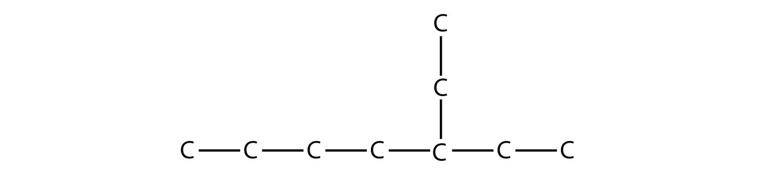 - Structural formula of 3-ethyl-heptane. The single bonds between Hydrdogen and Carbon are not represented.
