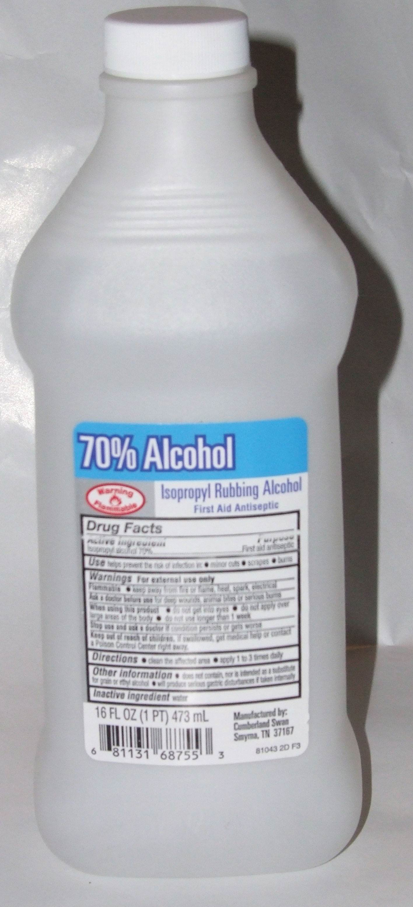 Photo of bottle of isopropyl alcohol