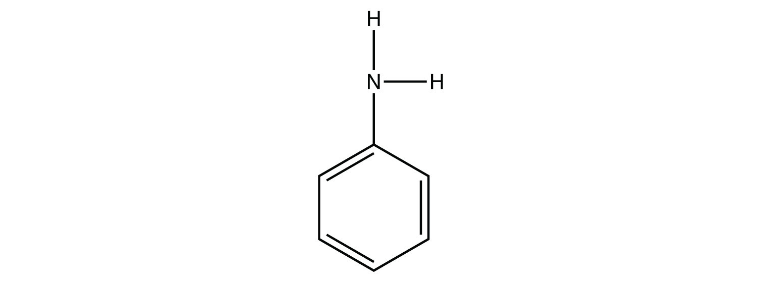 Structural formula of primary amine (Benzyl-amine)