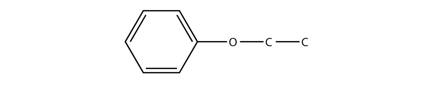 Structural formula of th ether compound Phenyl-ethyl-ether