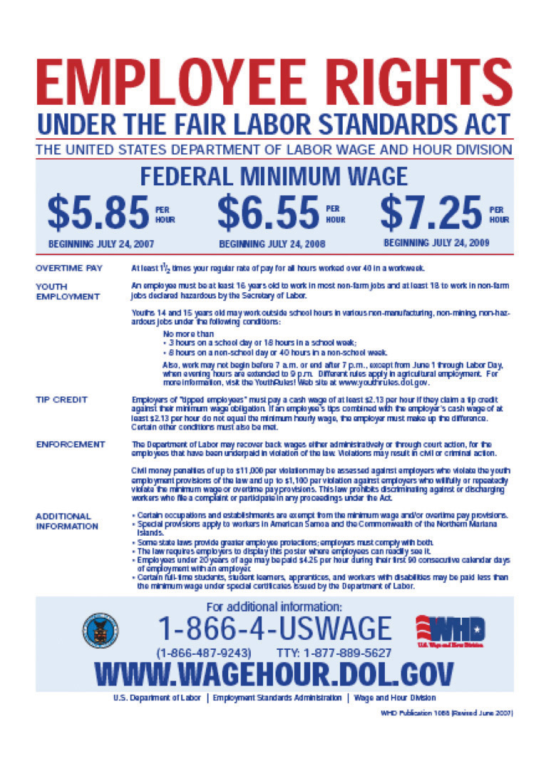 raising the wage floor figure 10 1 us department of labor poster