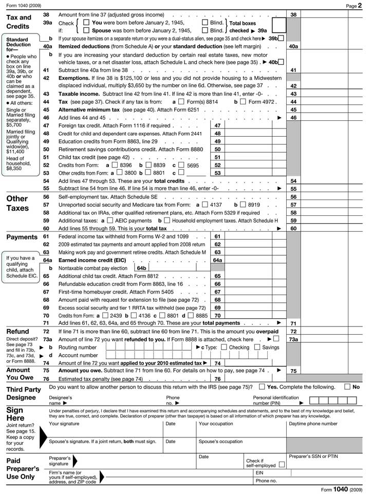 Federal Tax Form. (Screenshot Of New Jersey Form 1040 For 2015 Tax ...