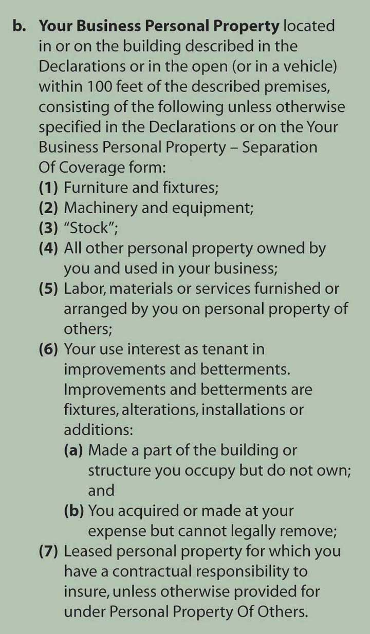 Commercial Package Policy and Commercial Property Coverages