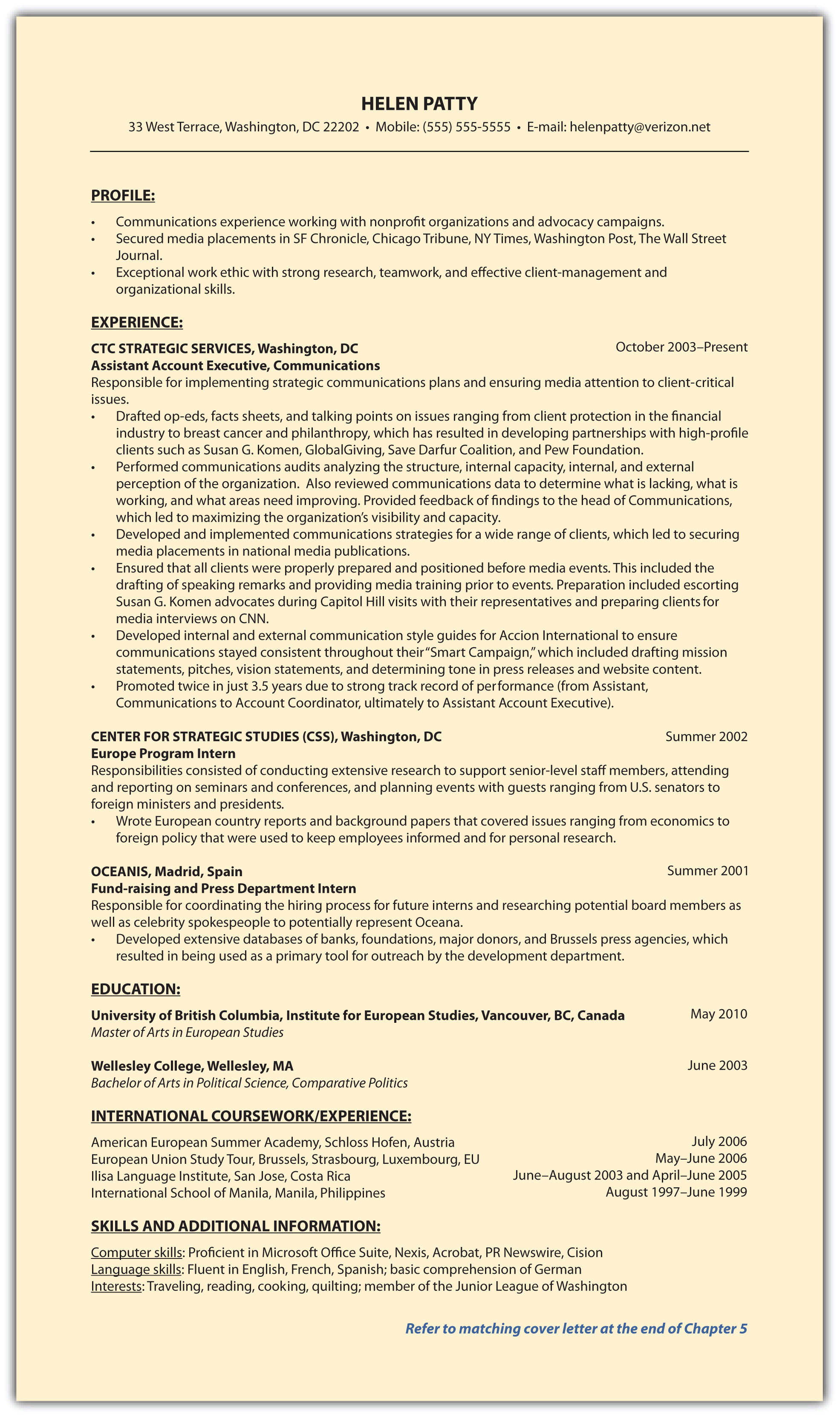 step 2 create a compelling marketing campaign part i résumé 4 9 sample résumés