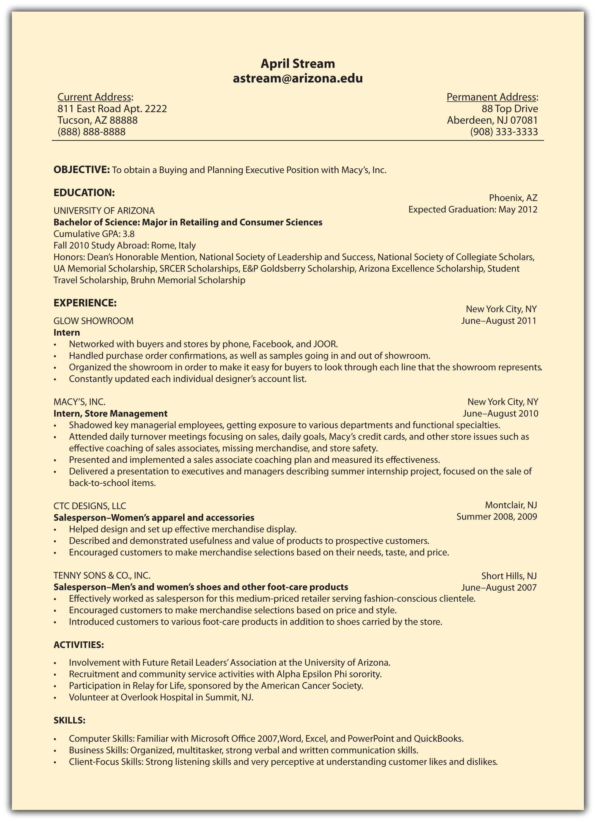 4.9 Sample Résumés  How To Make The Perfect Resume