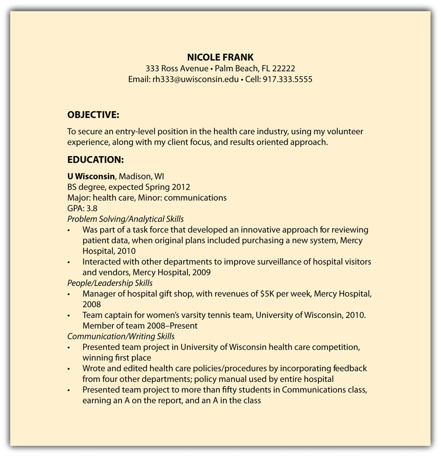 Other Resume Formats Including Functional Resumes