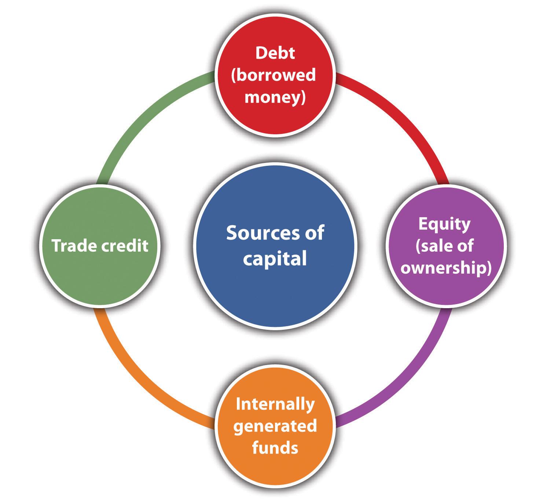 Surse de capital: datorii, capitaluri proprii, fonduri generate intern, credit comercial