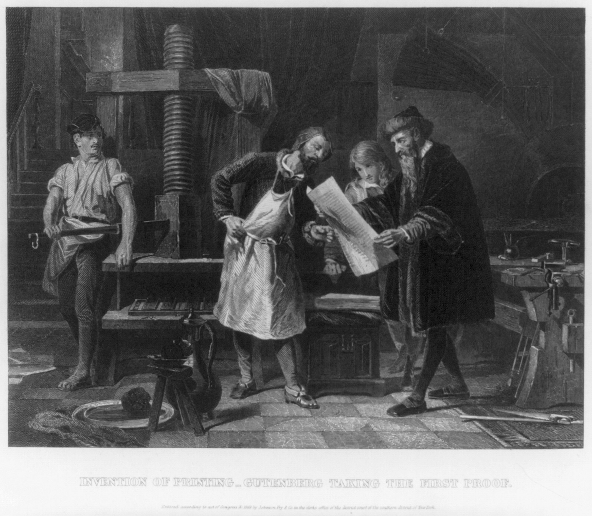 Write an essay about gutenberg and the printing press?