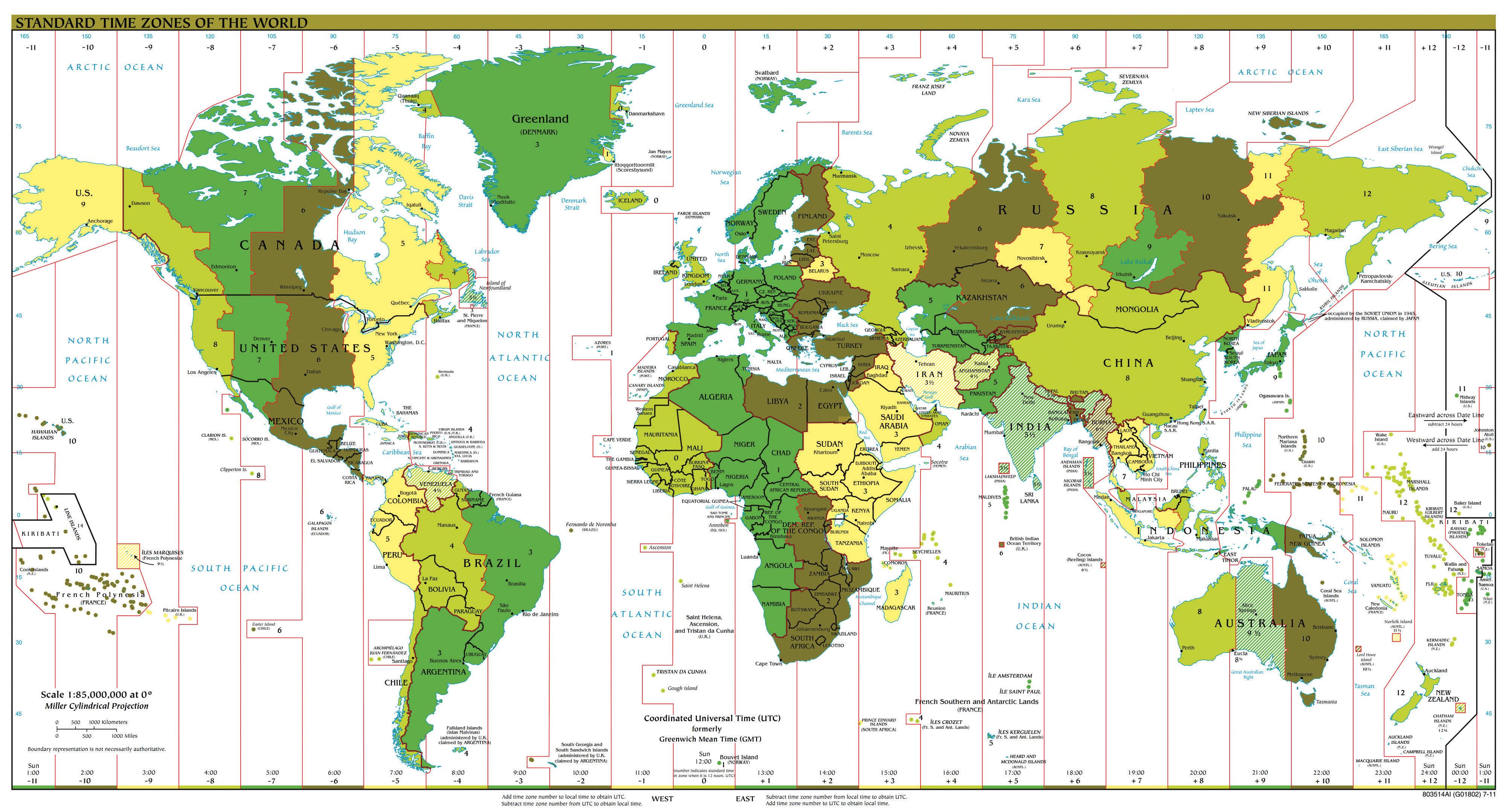 360 Degree World Map.Geography Basics