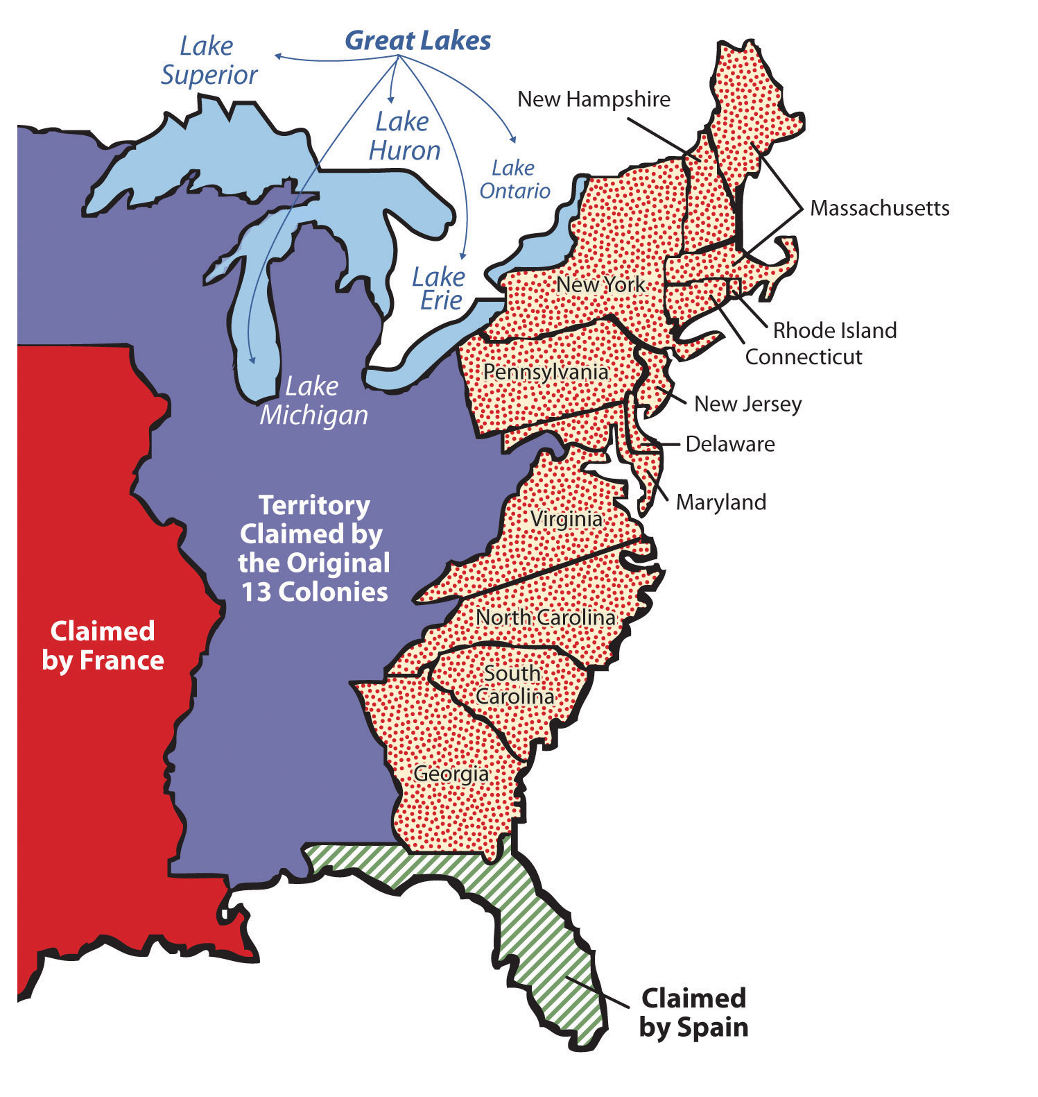 Map of the us including the great lakes  Great Lakes Map on