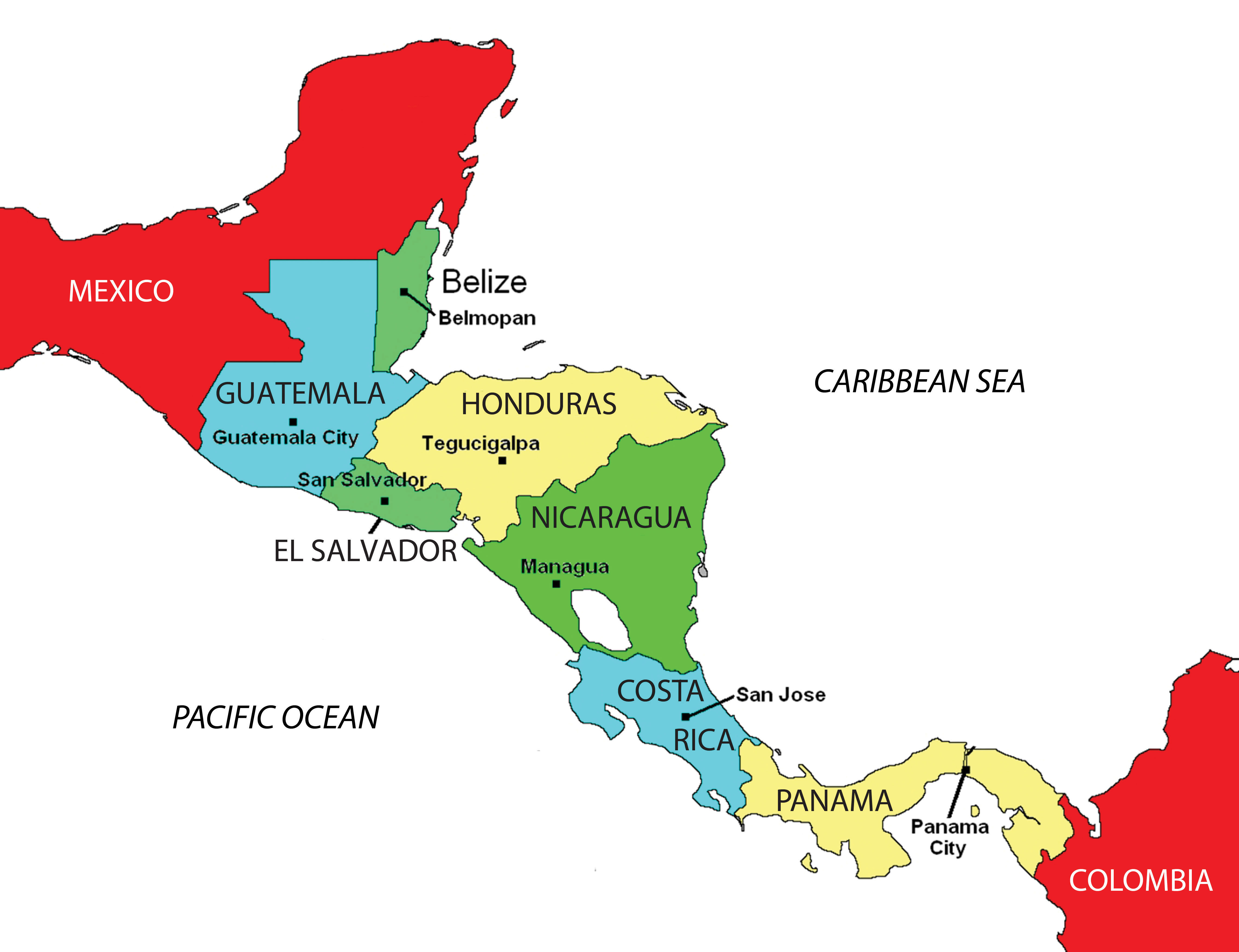 an analysis of the size of massachusetts el salvador as the smallest country in central america