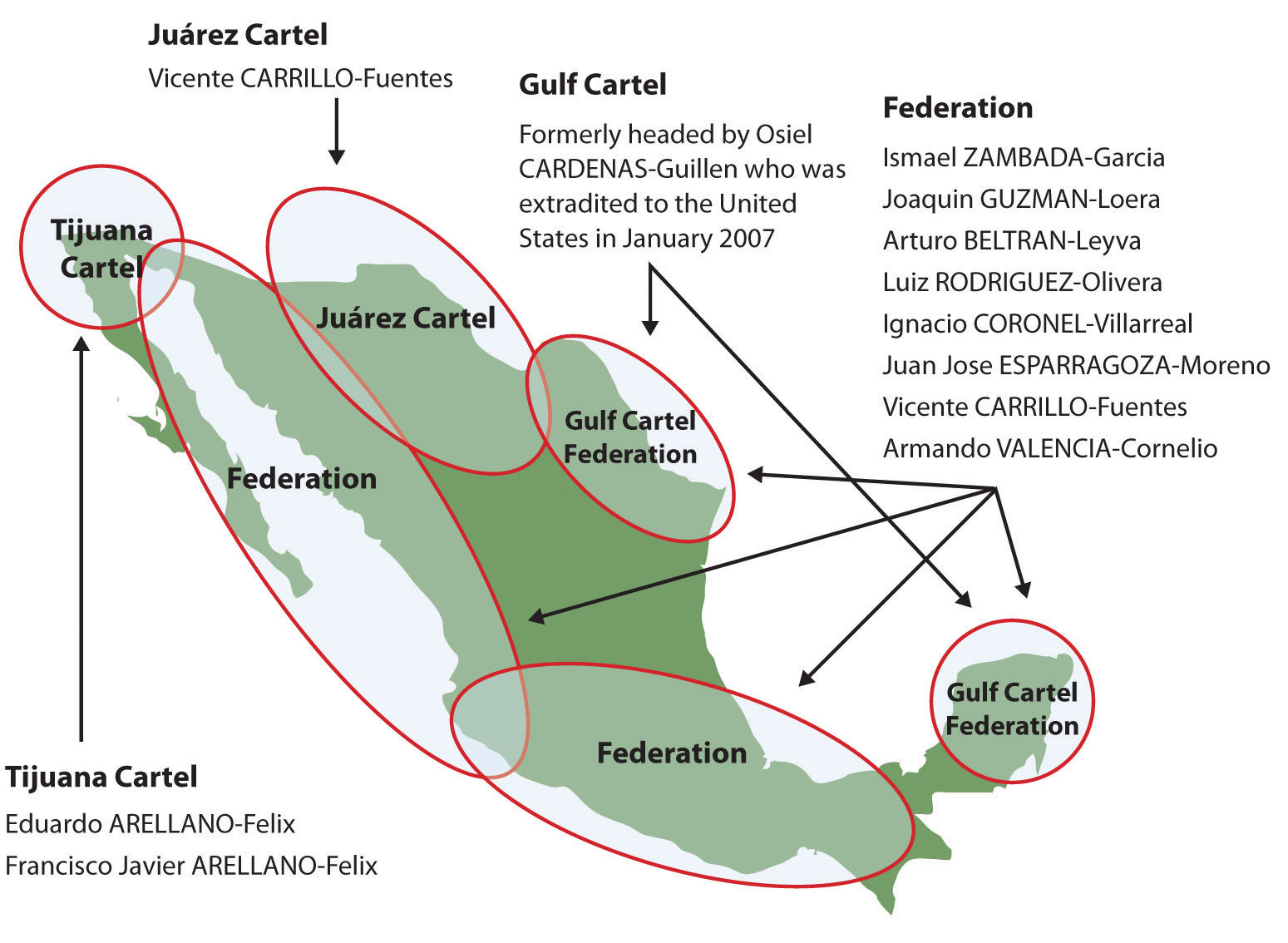 Cartels In Mexico Map.Mexico
