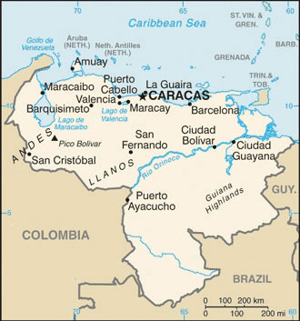 Caribbean Sea South America Map.South America