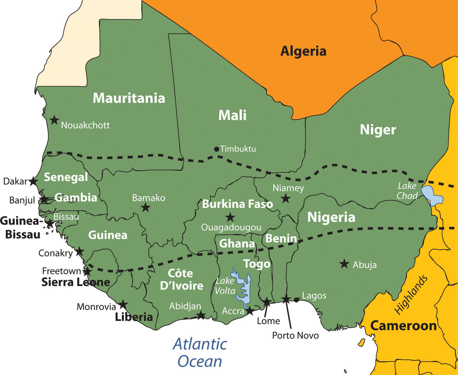 Africa Physical Maps Desert