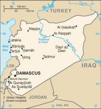 Israel And Its Neighbors - Negev desert map
