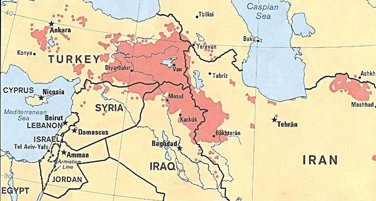 Iraq turkey and iran future kurdistan would be the main portions in iran iraq and turkey and a corner of syria the city of diyarbakir in turkey would be the kurdish capital gumiabroncs Choice Image