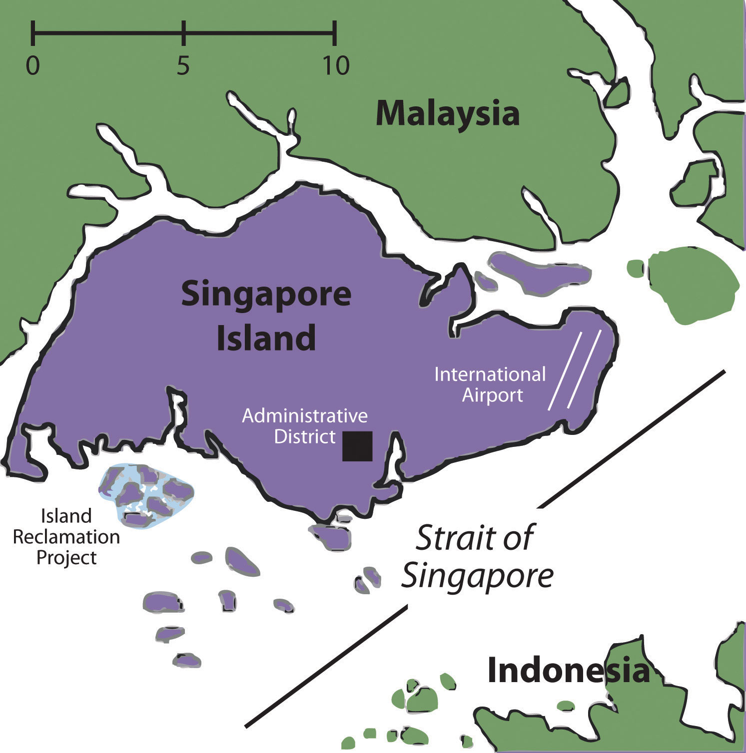 Figure 11.14 Singapore And Neighboring Countries