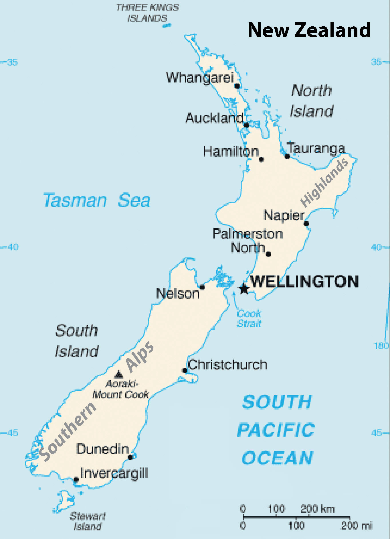 Where Is Wellington New Zealand On The Map.Australia And New Zealand